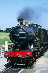 Steam train on the West Somerset railway, Somerset, England
