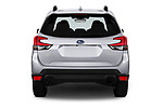 Straight rear view of a 2019 Subaru Forester Premium 5 Door Wagon stock images