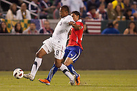 USA's Teal Bunbury (9) moves with the ball. US Men's National team played the National team of Chile to 1-1 draw at Home Depot Center stadium in Carson, California on Saturday January 22, 2010.