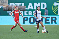 Portland, OR - Saturday July 22, 2017: Tyler Lussi, Mallory Pugh during a regular season National Women's Soccer League (NWSL) match between the Portland Thorns FC and the Washington Spirit at Providence Park.