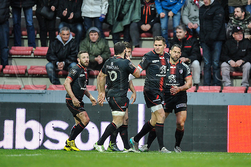 28.02.2016. Toulouse, Frace. Top14 rugby union league, Toulouse versus Montpellier.
