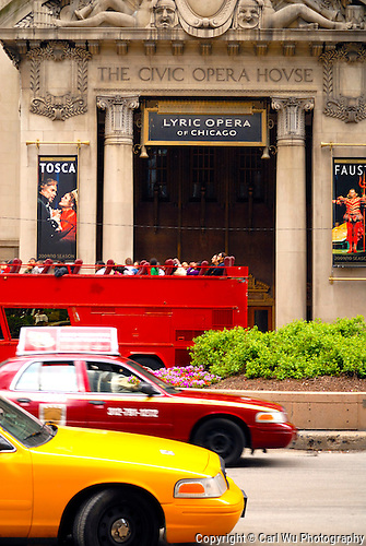 Entrance to The Civic Opera House, Lyric Opera Of Chicago