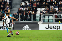 Calcio, Serie A: Juventus vs Milan. Torino, Juventus Stadium, 10 marzo 2017.<br /> Juventus&rsquo; Paulo Dybala scores on a penalty kick the winning goal during the Italian Serie A football match between Juventus and AC Milan at Turin's Juventus Stadium, 10 March 2017. Juventus won 2-1.<br /> UPDATE IMAGES PRESS/Manuela Viganti