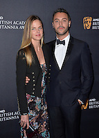 BEVERLY HILLS, CA. October 28, 2016: Jack Huston &amp; Shannan Click at the 2016 AMD British Academy Britannia Awards at the Beverly Hilton Hotel.<br /> Picture: Paul Smith/Featureflash/SilverHub 0208 004 5359/ 07711 972644 Editors@silverhubmedia.com