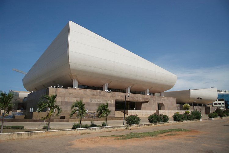 """The National Theatre of Ghana is jointly built by the Government of the People's Republic of China and the Government of the Republic of Ghana"""