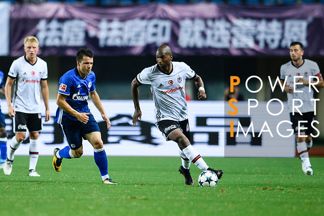 Besiktas Istambul Midfielder Atiba Hutchinson (R) in action during the Friendly Football Matches Summer 2017 between FC Schalke 04 Vs Besiktas Istanbul at Zhuhai Sport Center Stadium on July 19, 2017 in Zhuhai, China. Photo by Marcio Rodrigo Machado / Power Sport Images