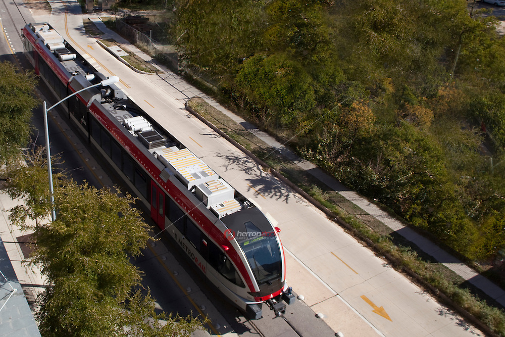 Austin's Capital MetroRail, operated by the Capital Metropolitan Transportation Authority (Capital Metro), is a commuter rail line, 32 miles (51.5 km) long, connecting downtown Austin with the northwestern suburb of Leander. It uses tracks of the former Austin and Northwestern Railroad (later part of the Southern Pacific), which are now owned by the city of Austin and Capital Metro.