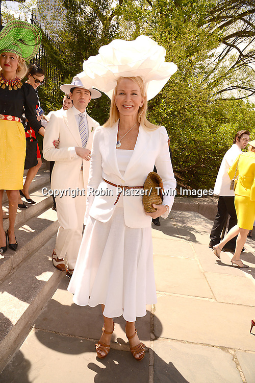 Blaine Trump  attend the 32nd Annual Frederick Law Olmsted Awards Hat Luncheon given by The Central Park Conservancy on May 7,2014 in Central Park in New York City, NY USA.