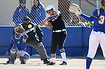 Western Nevada's Noa Talia hits against Salt Lake Community College at Edmonds Sports Complex in Carson City, Nev., on Friday, April 15, 2016. <br />Photo by Cathleen Allison