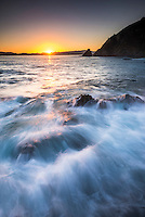 'Rocky Bay' at sunrise, Tapeka Point, Russell, Bay of Islands, Northland Region, North Island, New Zealand