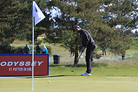 Joost Luiten (NED) on the 4th green during Round 4 of the Betfred British Masters 2019 at Hillside Golf Club, Southport, Lancashire, England. 12/05/19<br /> <br /> Picture: Thos Caffrey / Golffile<br /> <br /> All photos usage must carry mandatory copyright credit (© Golffile | Thos Caffrey)
