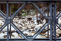 """Andrews Creek is a major tributary of the Chewuch River in Washington's Methow Valley region, which joins the Chewuch just below the """"30 Mile Fire"""" burn.  Photo taken from bridge along the Chuwuch River road."""