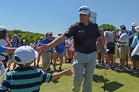 Graeme McDowell (NIR) shakes hands with young fans as he approaches 10 during round 1 of the AT&amp;T Byron Nelson, Trinity Forest Golf Club, at Dallas, Texas, USA. 5/17/2018.<br /> Picture: Golffile | Ken Murray<br /> <br /> <br /> All photo usage must carry mandatory copyright credit (&copy; Golffile | Ken Murray)