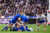 9th February 20020, Stade de France, Paris, France; 6-Nations international mens rugby union, France versus Italy;   Callum Braley  9 Italy plays the ball along his line
