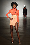 Model walks runway in an outfit from the Foraign Spring Summer 2020 collection by Kortney Williams at Cope NYC, on October 12, 2019, during Fashion Week Brooklyn Spring Summer 2020.