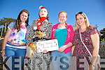Aoife O'Sullivan, Orla O'Sullivan and Eleanor O'Riordan from Churchil winners of the scarecrow competition  at  the Spa/Churchill Fenit Annual Heritage Weekend at the Forge Churchill on Saturday