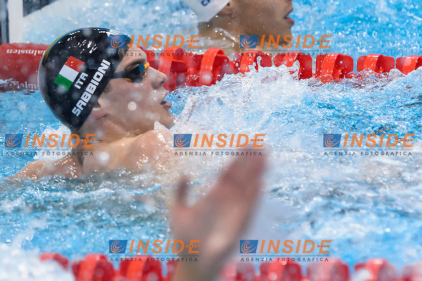 Simone SABBIONI ITA<br /> 100m Backstroke Men Semi-final <br /> London, Queen Elizabeth II Olympic Park Pool <br /> LEN 2016 European Aquatics Elite Championships <br /> Diving  <br /> Day 08 16-05-2016<br /> Photo Andrea Staccioli/Deepbluemedia/Insidefoto