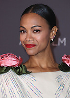 LOS ANGELES - NOVEMBER 4:  Zoe Saldana at the 2017 LACMA Art + Film Gala at LACMA on November 4, 2017 in Los Angeles, California. (Photo by Scott Kirkland/PictureGroup)