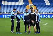 1st October 2017, Hillsborough, Sheffield, England; EFL Championship football, Sheffield Wednesday versus Leeds United; Leeds United players arrive and check out the pitch