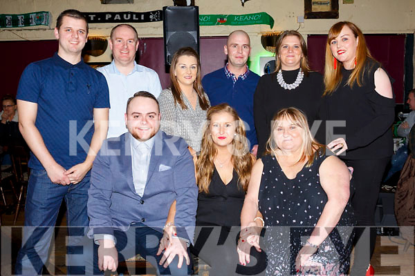 Double Celebrations: With engagement of Martin Currans and Sandra Foran and the birthday of Mary Foran, all seated front with family and friends, back l-r, Rickie Fleming, Ross Dowling, Emily Fleming, Pa Foran, Susanne Dowling and Celine Foran.