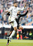 Real Madrid's Carlos Henrique Casemiro (l) and Granada CF's Javi Marquez during La Liga match. January 7,2016. (ALTERPHOTOS/Acero)