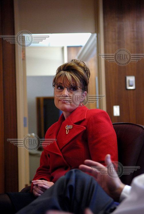 Sarah Palin, Governor of Alaska. In 2008 she was nominated as the Republican candidate for Vice President.