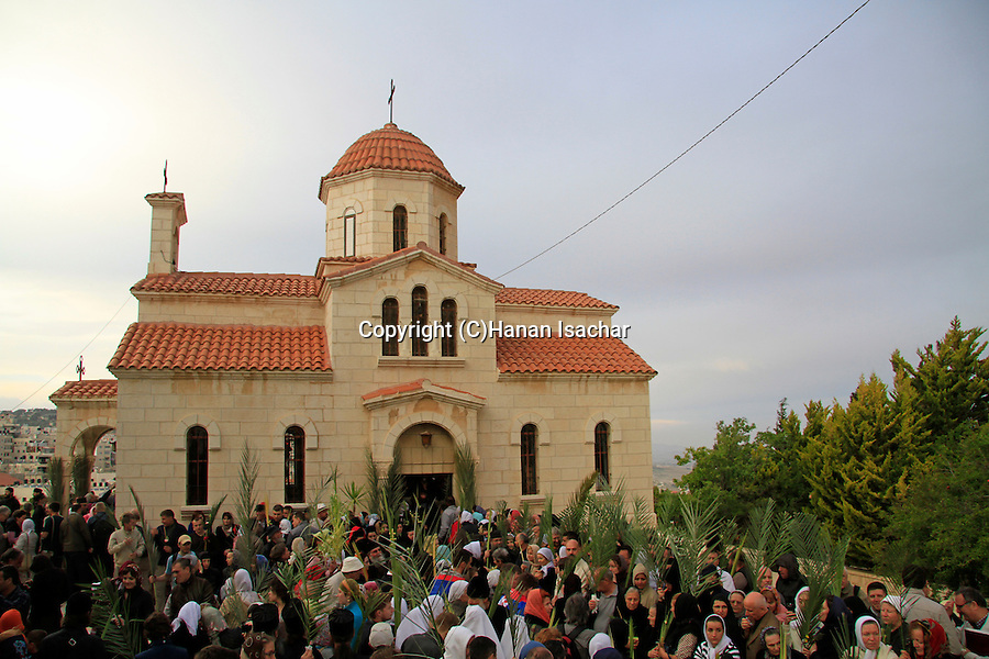 Israel, Jerusalem, Lazarus Saturday at the Greek Orthodox Church in Bethfage on the Mount of Olives