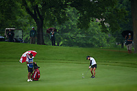 Nuria Iturrioz (ESP) hits her approach shot on 11 during round 4 of the KPMG Women's PGA Championship, Hazeltine National, Chaska, Minnesota, USA. 6/23/2019.<br /> Picture: Golffile | Ken Murray<br /> <br /> <br /> All photo usage must carry mandatory copyright credit (© Golffile | Ken Murray)