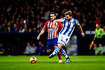 Asier Illarramendi Andonegi of Real Sociedad (R) in action against Jorge Koke of Atletico de Madrid (L) during the La Liga 2018-19 match between Atletico de Madrid and Real Sociedad at Wanda Metropolitano on October 27 2018 in Madrid, Spain.  Photo by Diego Souto / Power Sport Images