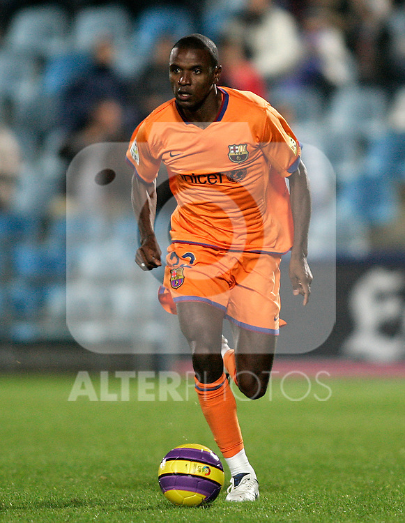 FC Barcelona's Eric Abidal during the Spanish League match between Getafe and FC Barcelona at Alfonso Perez Coliseum in Getafe, November 10 2007. (ALTERPHOTOS/Acero).