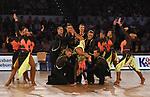 """09.11.2019,  GER; Tanzen, 1. Bundesliga der Lateinformationen, Deutsche Meisterschaften, Vorrunde, im Bild Gruen-Gold Club Bremen A mit dem Thema """"Music is the key""""  Foto © nordphoto / Witke"""
