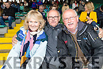 Kilmoyley supporters pictured at the senior Hurling replay held in Austin Stack Park, Tralee on Saturday evening last, were l-r: Ann Brady Tom Murnane and Tom O'Connor