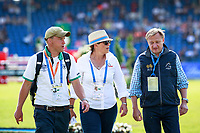 The course walk before the DHL-Preis CICO3* Teilprüfung Springen. 2017 GER-CHIO Aachen Weltfest des Pferdesports. Friday 21 July. Copyright Photo: Libby Law Photography