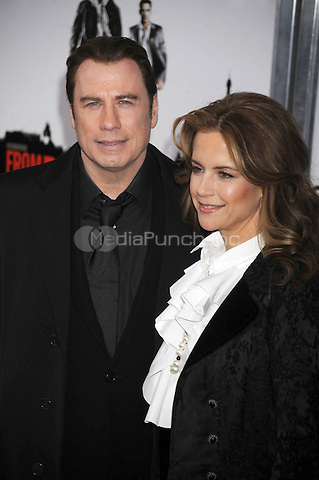 John Travolta and Kelly Preston attend the 'From Paris With Love' premiere at the Ziegfeld Theatre  in New York City. January 28, 2010. Credit: Dennis Van Tine/MediaPunch