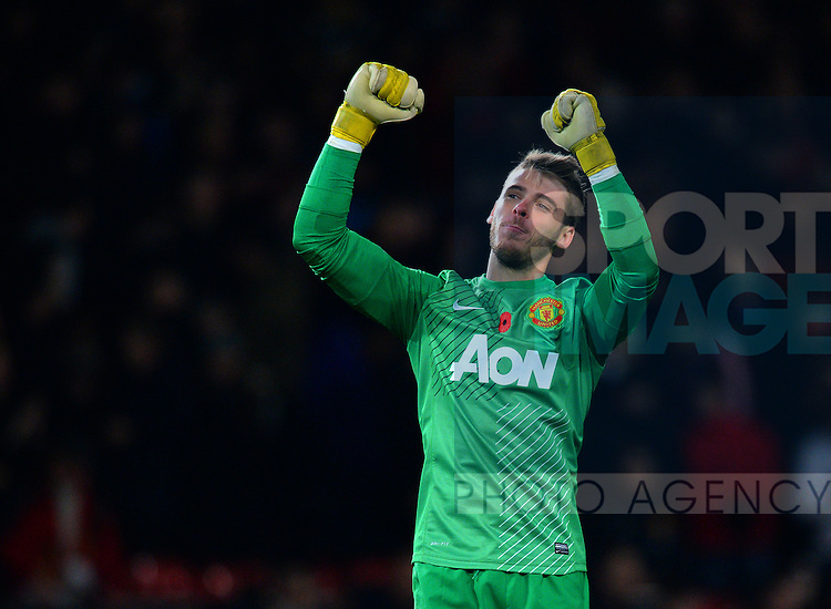 David De Gea of Manchester United - Barclays Premier League - Manchester Utd  vs Arsenal  - Old Trafford Stadium - Manchester - England - 10/11/13 - Picture Simon Bellis/Sportimage