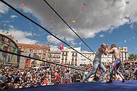 Madrid 16 de septiembre.- Lucha libre dentro de las festividades de la 2da kerm�mexicana. Realizado por el colectivo NodoMxM y con un evento familiar para todo el p�o y as�elebrar el grito de la independencia de M�co/dydppa/henrywall