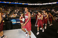 5 April 2008: Stanford Cardinal Candice Wiggins, Cissy Pierce, Kayla Pedersen, and Rosalyn Gold-Onwude during Stanford's 2008 NCAA Division I Women's Basketball Final Four open practice at the St. Pete Times Forum Arena in Tampa Bay, FL.