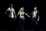 Paul Fleeshman, Caissie Levy & Bryce Pickham.during the Broadway Opening Night Performance Curtain Call for  'GHOST' a the Lunt-Fontanne Theater on 4/23/2012 in New York City.