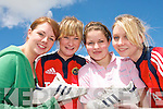 WALKING TALL:  Marie O'Sullivan (Currow), Marita McSweeney (Scartaglin), Sarah Mannix (Currow) and Suzan Nolan (Currow) students from Castleisland Community College who took part in a Charity Walk on Friday last for former student Christina fleming who  is travelling to India on July 6th for seven week as a volunteer with SERVE.   Copyright Kerry's Eye 2008