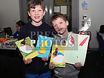 Cian and Dara Costello at the Easter Craft Workshop in Drogheda Library.<br /> <br /> Photo: Jenny Matthews