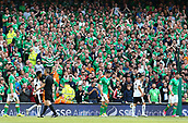 June 11th 2017, Dublin, Republic Ireland; 2018 World Cup qualifier, Republic of Ireland versus Austria;  Irish supporters react to Ireland winning a corner