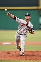 Brevard County Manatees  pitcher Martin Viramontes (19) delivers a pitch during a game against the Clearwater Threshers on June 28, 2014 at Bright House Field in Clearwater, Florida.  Brevard County defeated Clearwater 6-4.  (Mike Janes/Four Seam Images)
