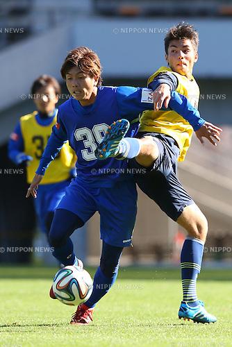 (L-R)<br /> Yusuke Tanahashi,<br /> Kinjo Christopher Tatsuki,<br /> 2014 JPFA Tryout at Fukuda Denshi Arena in Chiba, Japan on December 3rd, 2014.<br /> (Photo by Shingo Ito/AFLO SPORT)