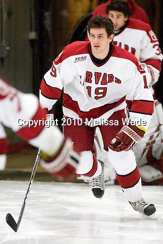 Alex Killorn (Harvard - 19) - The Princeton University Tigers defeated the Harvard University Crimson 2-1 on Friday, January 29, 2010, at Bright Hockey Center in Cambridge, Massachusetts.