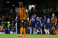 Adama Diomande of Hull City shows his despair as Chelsea celebrate their fourth goal during Chelsea vs Hull City, Emirates FA Cup Football at Stamford Bridge on 16th February 2018