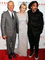 NEW YORK CITY, NY, USA - OCTOBER 11: Michael Keaton, Naomi Watts, Alejandro G. Inarritu arrive at the 52nd New York Film Festival - Closing Night Gala Presentation Of 'Birdman Or The Unexpected Virtue Of Ignorance' held at Alice Tully Hall on October 11, 2014 in New York City, New York, United States. (Photo by Celebrity Monitor)