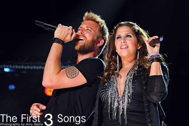 Charles Kelley and Hillary Scott of Lady Antebellum perform at LP Field during the 2012 CMA Music Festival on June 07, 2011 in Nashville, Tennessee.