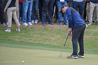 Francesco Molinari (ITA) reacts to barely missing his putt on 18 and losing the match to Kevin Kisner (USA) during day 5 of the WGC Dell Match Play, at the Austin Country Club, Austin, Texas, USA. 3/31/2019.<br /> Picture: Golffile | Ken Murray<br /> <br /> <br /> All photo usage must carry mandatory copyright credit (&copy; Golffile | Ken Murray)