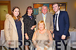 Enjoying the  Fashion show in aid of MS Ireland in Ballyroe Hotel on Saturday Pictured Ann Burrows, Kaleigh Cosgrove, Marion Foley, Henry Burrows, Colin Foley.