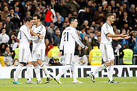 Real Madrid CF vs Athletic Club de Bilbao (5-1) at Santiago Bernabeu stadium. The picture shows Mesut Ozil, Alvaro Arbeloa, Jose Callejon and Karim Benzema. November 17, 2012. (ALTERPHOTOS/Caro Marin) NortePhoto